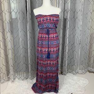 Hello Miss Strapless Boho Dress Small